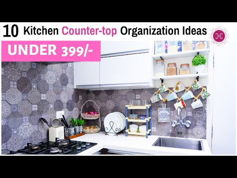 10 Kitchen Organization Ideas - Countertop Organization / Kitchen Decor Tips / Home HashTag Life
