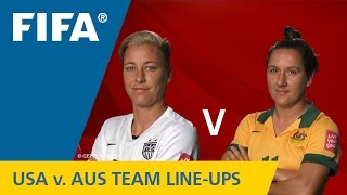 USA v. Australia - Team Lineups EXCLUSIVE
