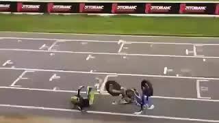 Aparatoso accidente en supermoto