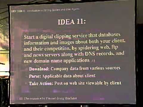 DEF CON 10 Hacking Conference Presentation By Michael Schrenk - Spiders - Video