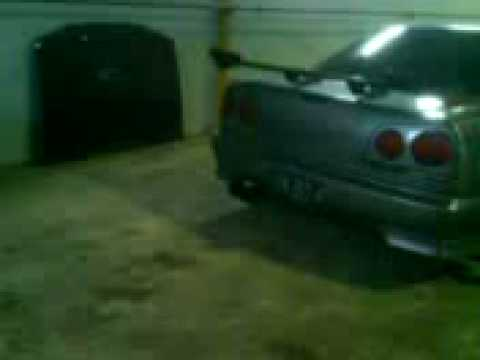 skyline R34 playing exhaust flame in batam