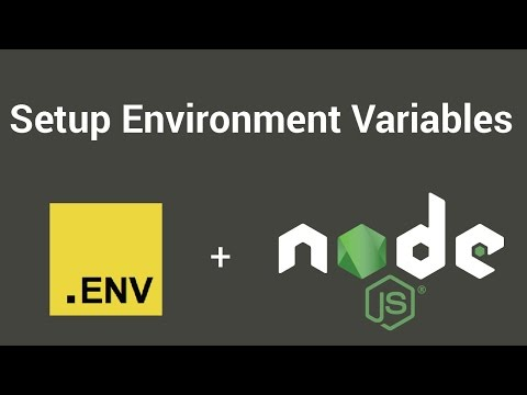 Setup environment variables with Node.js + Dotenv Tutorial