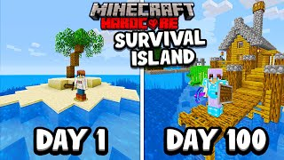 I Survived 100 Days on a SURVIVAL ISLAND in Minecraft Hardcore...
