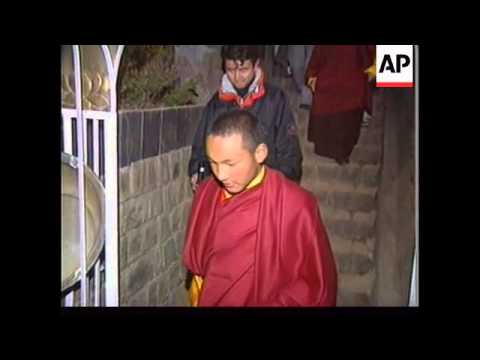 INDIA: DHARMSALA: KARMA LAMA TAKEN TO SECRET LOCATION