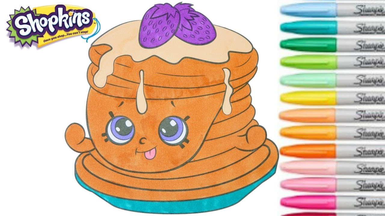 Shopkins Coloring Book Berry Sweet Pancakes Season 6 Chef
