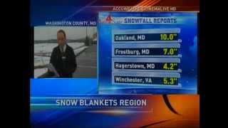 Late March Snow Blankets Four State Region - WHAG News at 5:30 PM - Monday 25 March 2013