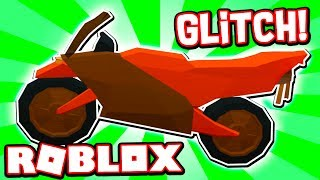 HOW TO GLITCH WITH THE MOTORCYCLE IN ROBLOX JAILBREAK!!
