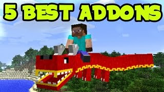 5 BEST NEW ADDONS and BEHAVIOR PACKS for Minecraft Pocket Edition (Top 5 MCPE Addons)