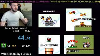 [44.083] Super Mario World Credits Warp WR