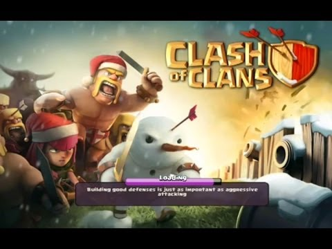 Clash of clans - chopping down my Christmas tree! ( santa suprise )