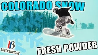 SNOWBOARDING IN 2 FEET OF POWDER | POWDER TURNS | COLORADO | VLOG