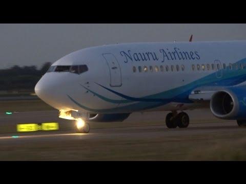 Nauru Airlines Boeing 737-319 [VH-XNU] | Takeoff | Brisbane Airport