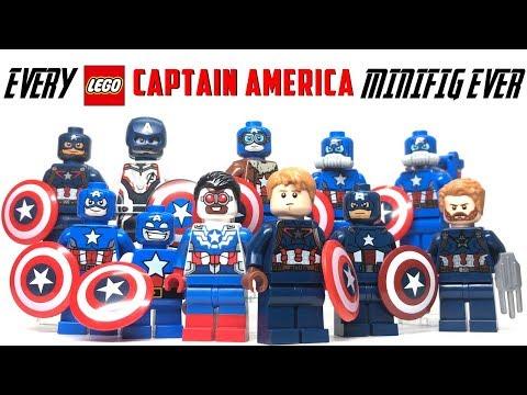 EVERY LEGO Captain America Minifigure EVER!