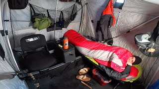 Ice Camping for Anoтher Giant Trout - Overnight in Small Tent