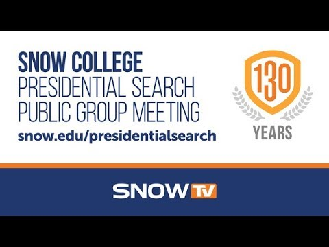 Snow College Presidential Search