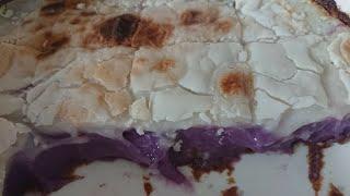 Inutak Kakanin with Ube Recipe  Rice Cake  Inutak Of Pateros