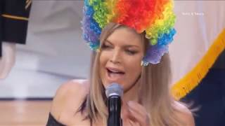 "Fergie Performs The National Anthem ""GUMMO"" BY 6IX9INE"