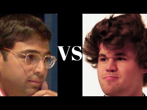 Vishy Anand vs Magnus Carlsen : Chess Classic Mainz (2008) - Sicilian Defense: Dragon