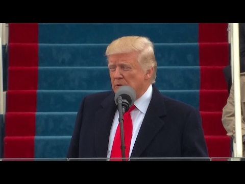 """US President Donald Trump: """"we will determine the course of America and the world for many years"""""""