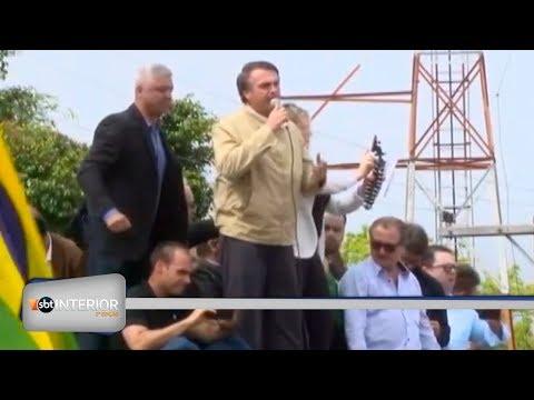 Candidato à Presidência da República, Jair Bolsonaro, do PSL, visita a região