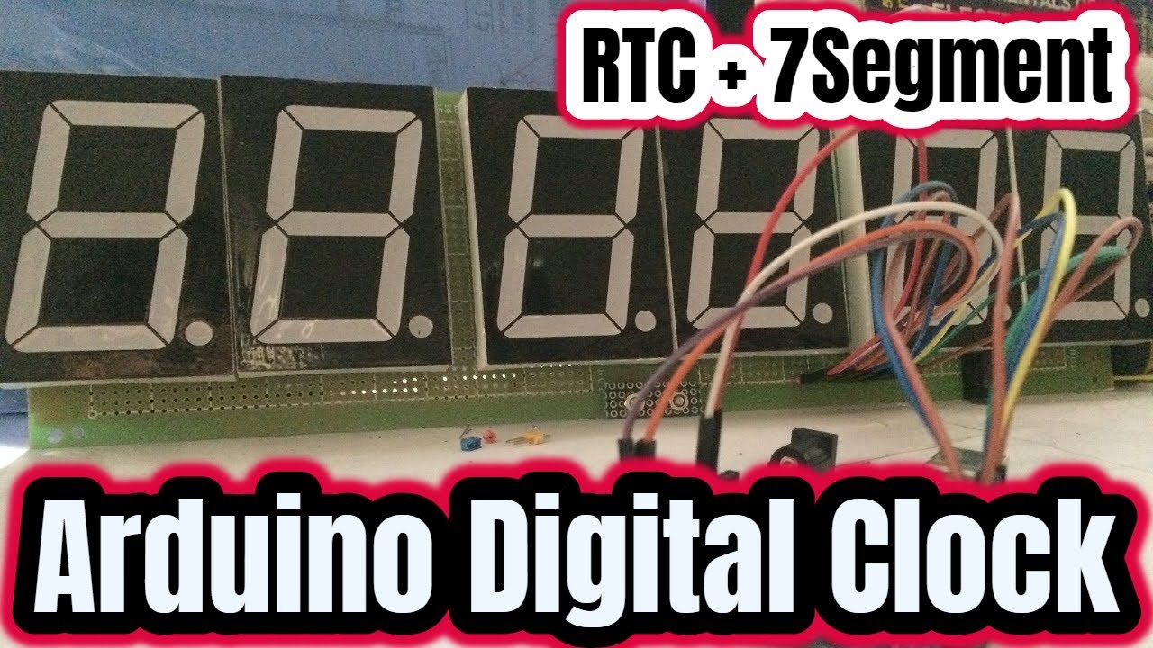 Arduino Real Time 6 Digit Digital Clock using 2 3` 7 segment display with  rtc ds1307
