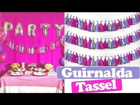 DIY Guirnalda Tassel para fiestas. Adornos para fiestas