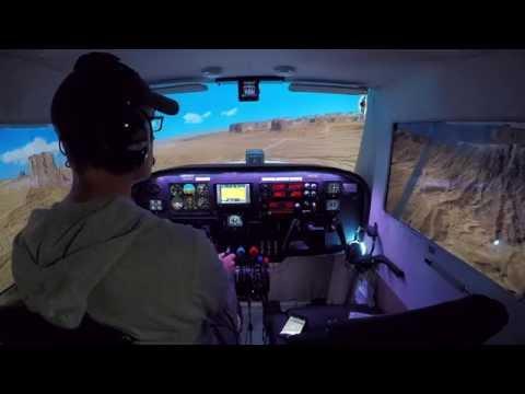 A Scenic Tour Of Monument Valley (Cessna 172 Home Cockpit - Prepar3d v3 - Orbx Scenery)