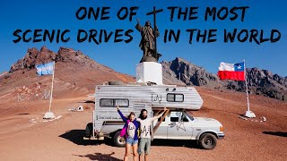 One of the most SCENIC and SCARIEST Border Crossing - Truck Camper Life Paso Los Libertadores