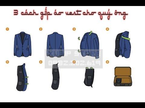 [ShopXubip.com] Gấp áo vest – phương pháp 1