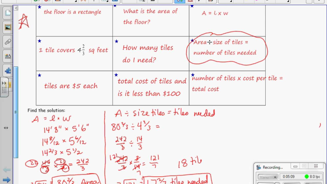 Grade 7 Module 1 Lesson 12 on Ratios of Fractions and Their Unit Rates