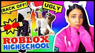 FIGHTING THE BULLIES!! NERDS VS CHEERLEADERS! - ROBLOX HIGH SCHOOL ROLEPLAY