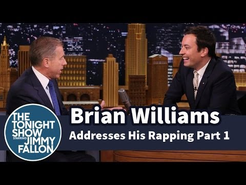 Brian Williams Addresses His Rapping  Part 1