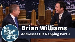 Brian Williams Addresses His Rapping -- Part 1