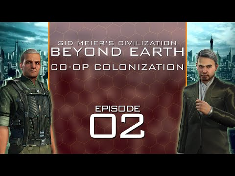 Beyond Earth - Co-Op Colonization - Episode 2 ...Snaky Super-Continent...