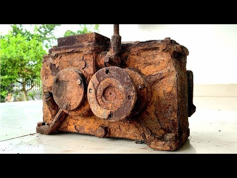 Restoration a very old 15 gear reducer | Reuse antique gearboxes | Restored rusted transmission box