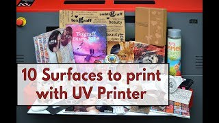 10 Surfaces You Can Print with UV Flatbed Printer