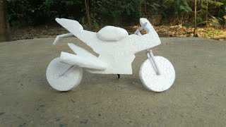 DIY- Thermocol Bike | How To Make Thermocol Bike | Thermocol Mini Bike | Thermocol R15 Sport Bike