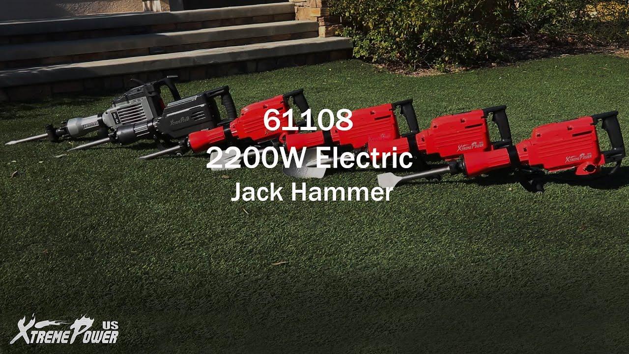XtremepowerUS 2200Watt Heavy Duty Electric Demolition Jack hammer Concrete Break