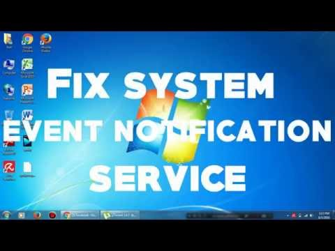 System Event Notification Service Fixed.
