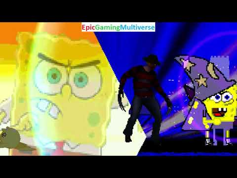 SpongeBob SquarePants And Freddy Krueger VS Onsokumaru And Sonic The Hedgehog In A MUGEN Match