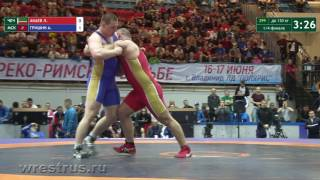 130 кг. Лом-Али Акаев - Алексей Гришин. 1/4 финала.