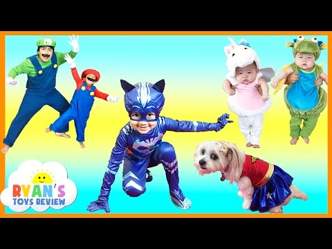 Thumbnail: KIDS COSTUME RUNWAY SHOW Top costumes ideas for family, kids, baby, dog Disney Marvel Superheroes
