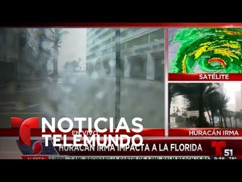 José Díaz-Balart se enfrenta a la fuerza de Irma en la ciudad de Miami, FL