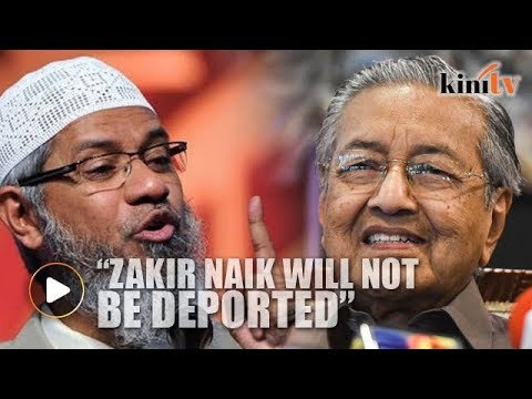 Image result for mahathir and zakir naik
