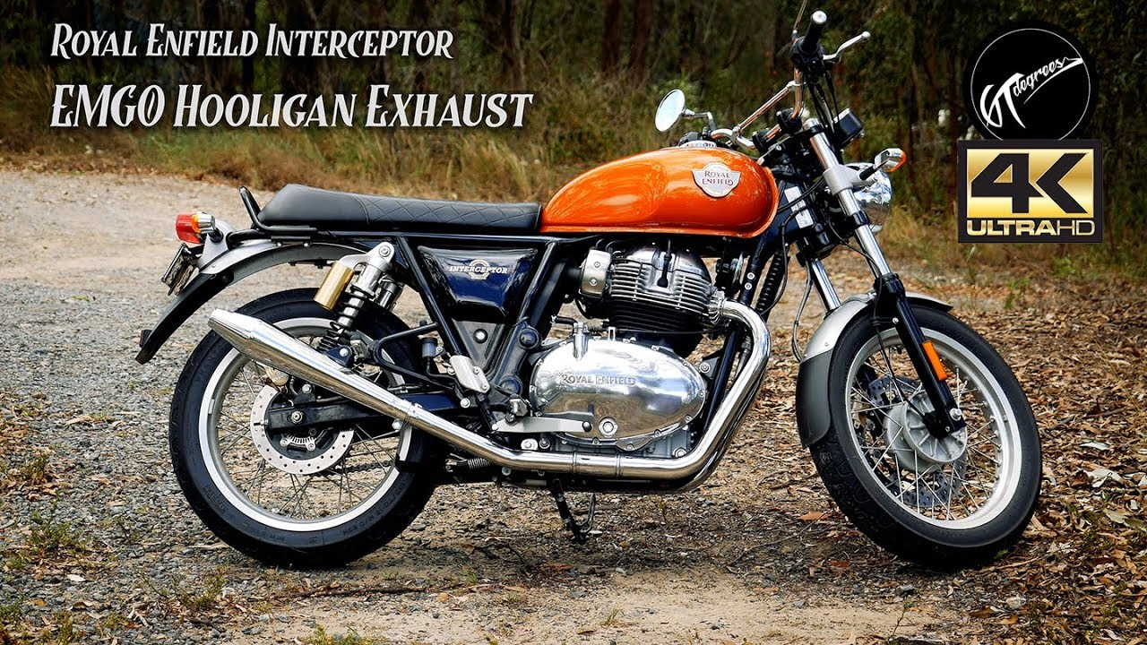 Emgo Hooligan Exhaust Royal Enfield Interceptor 4k Youtube