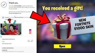 BUYING THE NEW $1000 FORTNITE SKIN.. (WORTH IT OR NAH?)