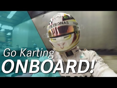 Go Karting with Lewis Hamilton - onboard!