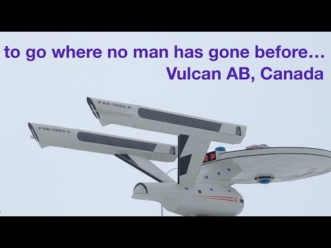 Went to Vulcan, saw the starship Enterprise, or is it????