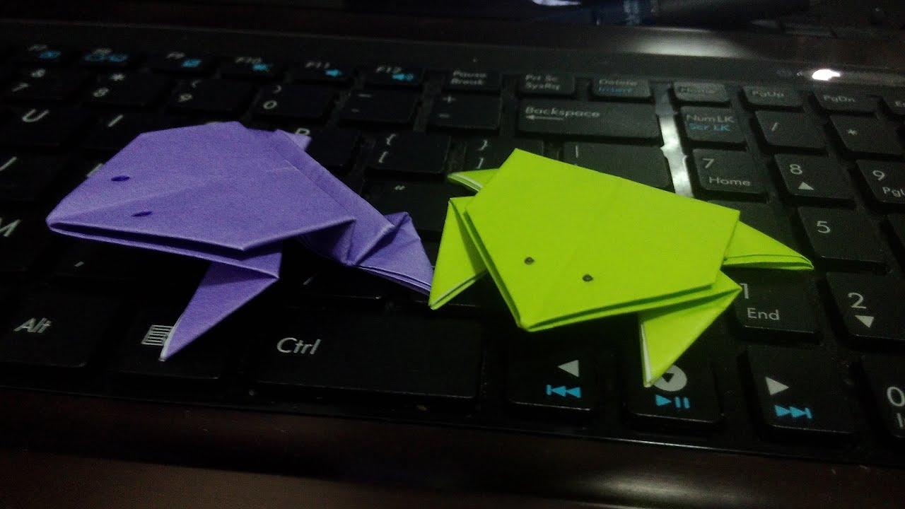 摺會跳的青蛙 Origami jumping frog - YouTube - photo#44