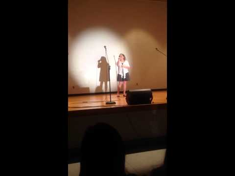 "Scottsburg Middle School talent show : Girl sings ""Rolling in the Deep"". Brittney Paul."